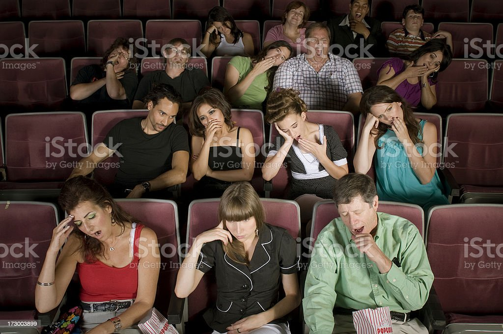 Boring Movie stock photo