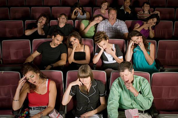 Boring Movie stock photo
