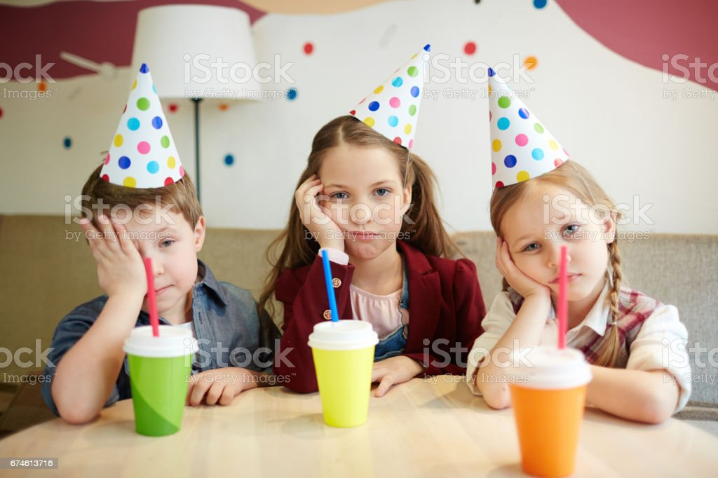 Boring party stock photo