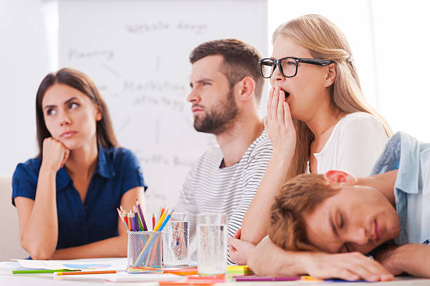 boring presentation. - tedious stock photos and pictures