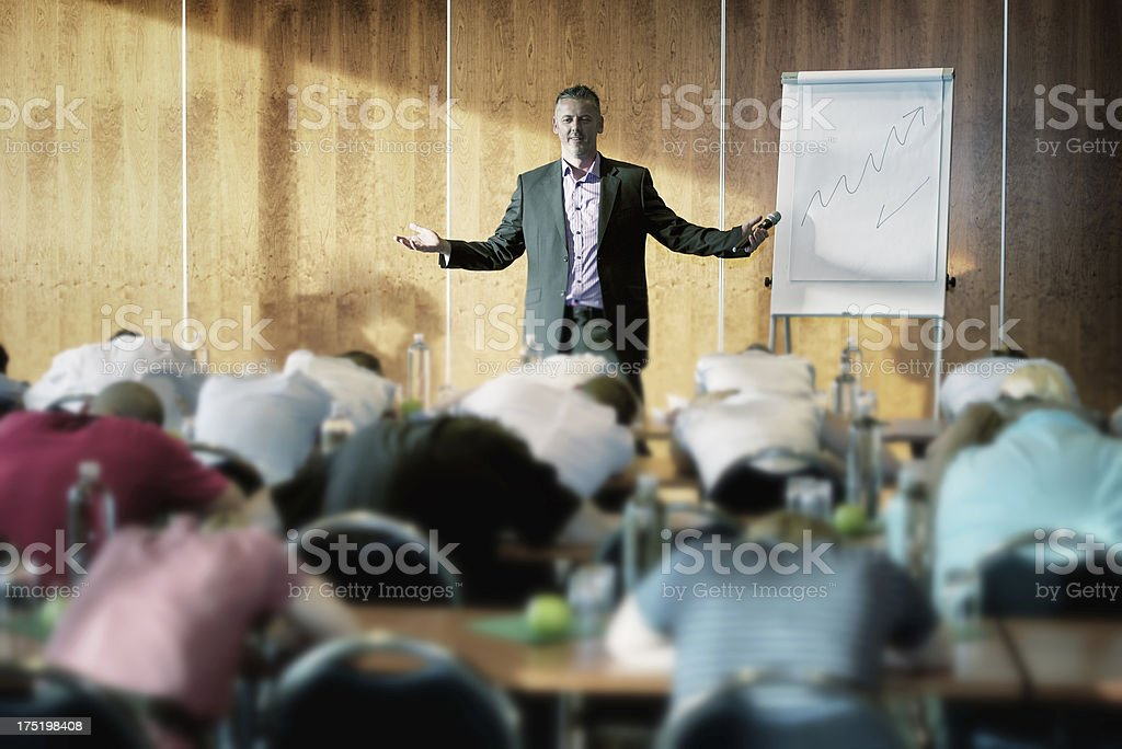 Boring seminar stock photo