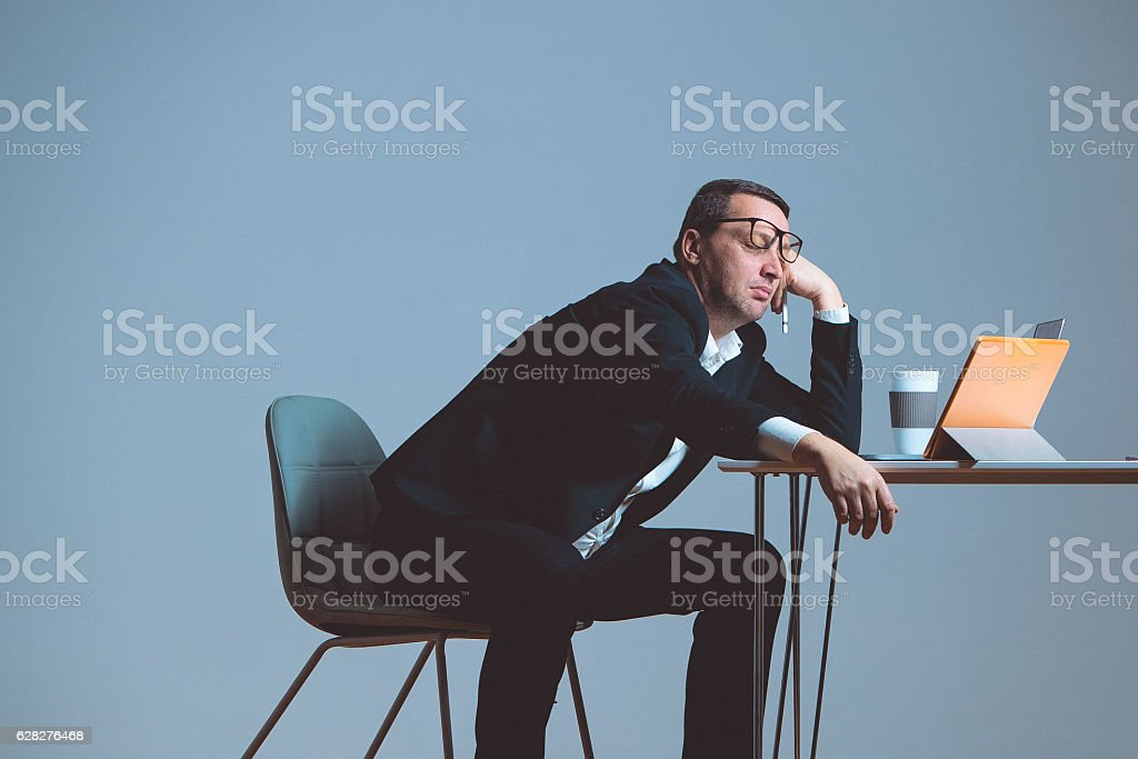 Boring work stock photo