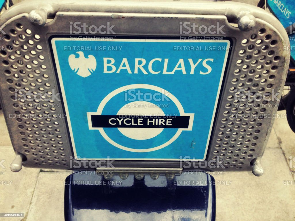 Boris Bike stock photo