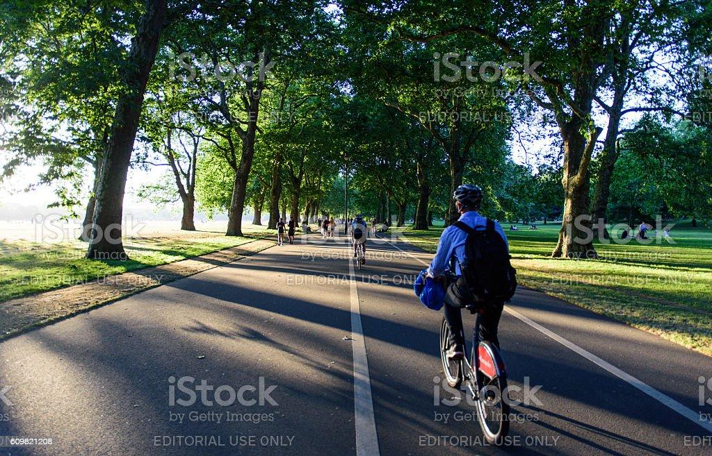 Boris Bikers in Hyde Park stock photo