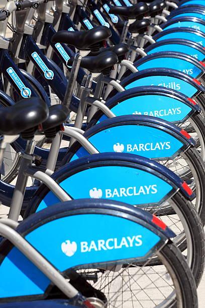Boris Bikes stock photo