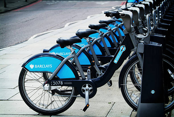 Boris's bikes stock photo