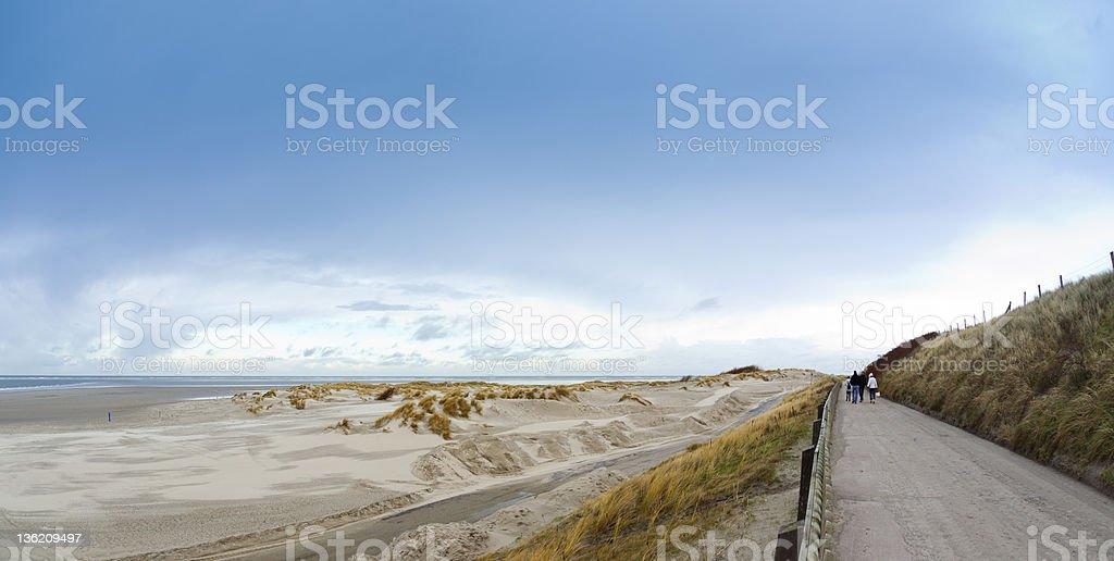 Borkum north beach im winter – Foto