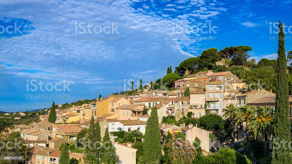 Bormes-les-Mimosas in France stock photo