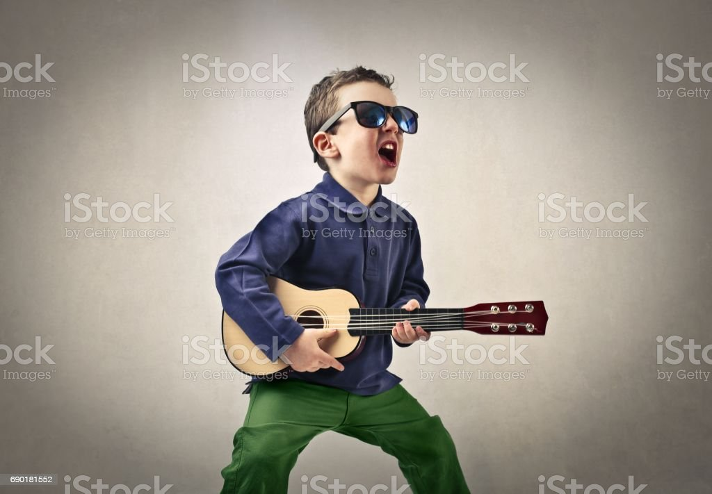 Born to be a rock star stock photo