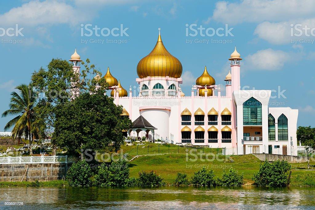 Borneo, Malaysia - Pink Mosque in Kuching stock photo