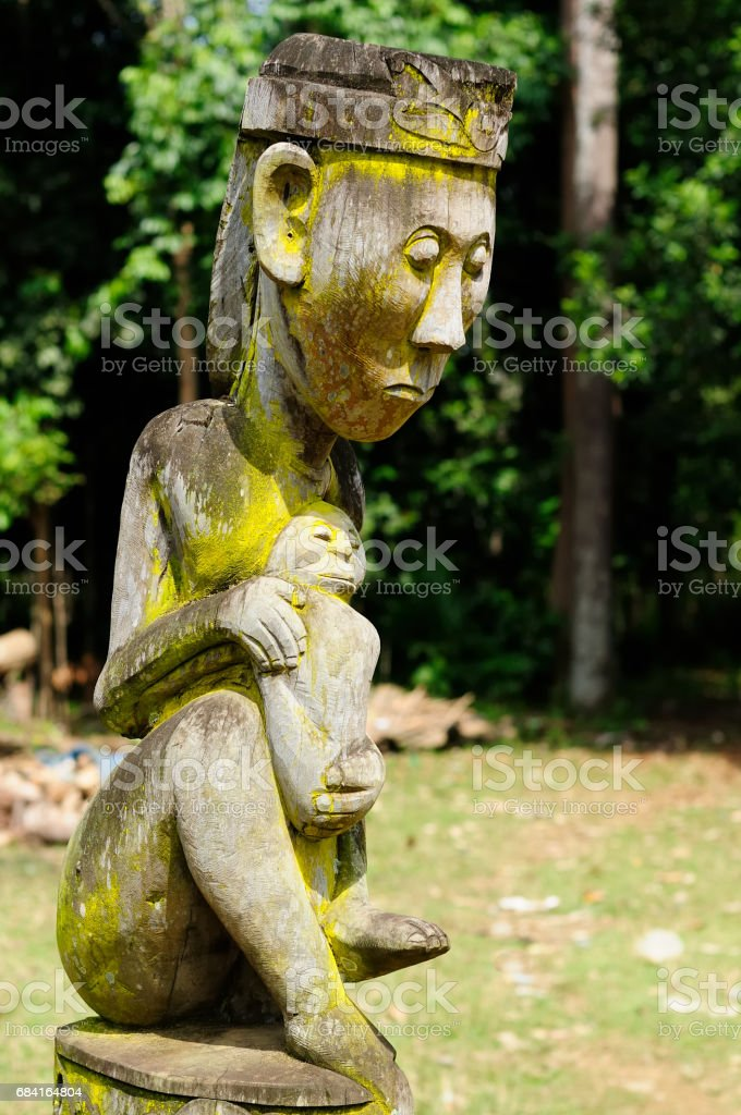 Borneo - Traditional Dayak tribal culture in Indonesia stock photo