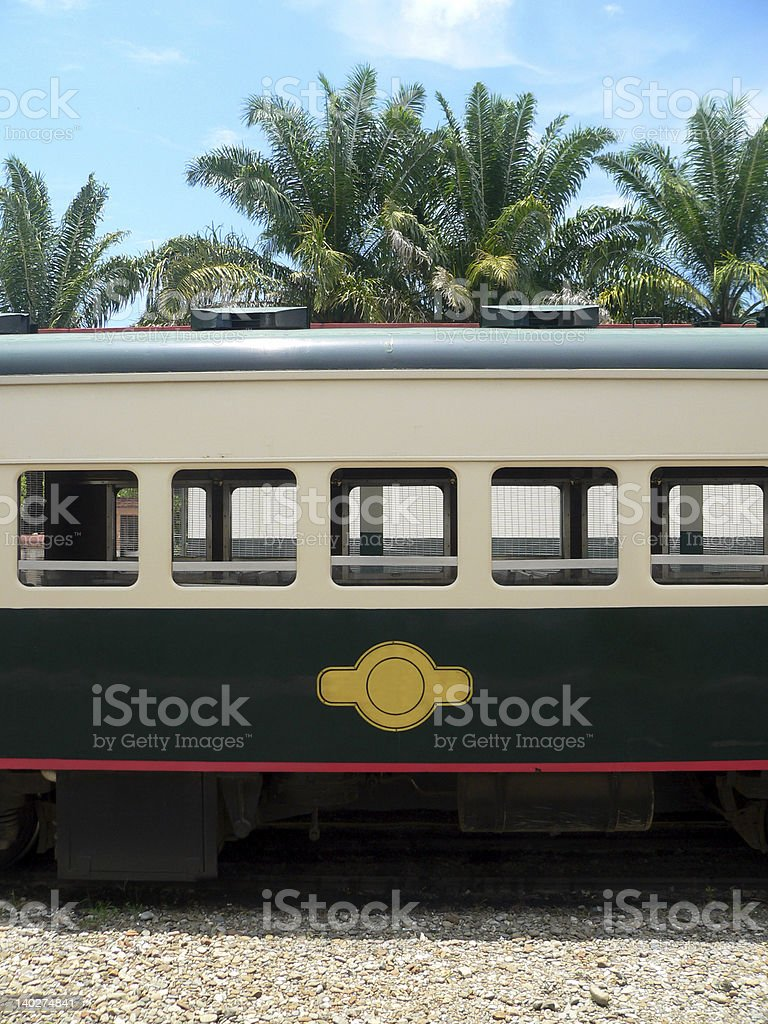 Borneo. Train Carriage (made in Britain) royalty-free stock photo