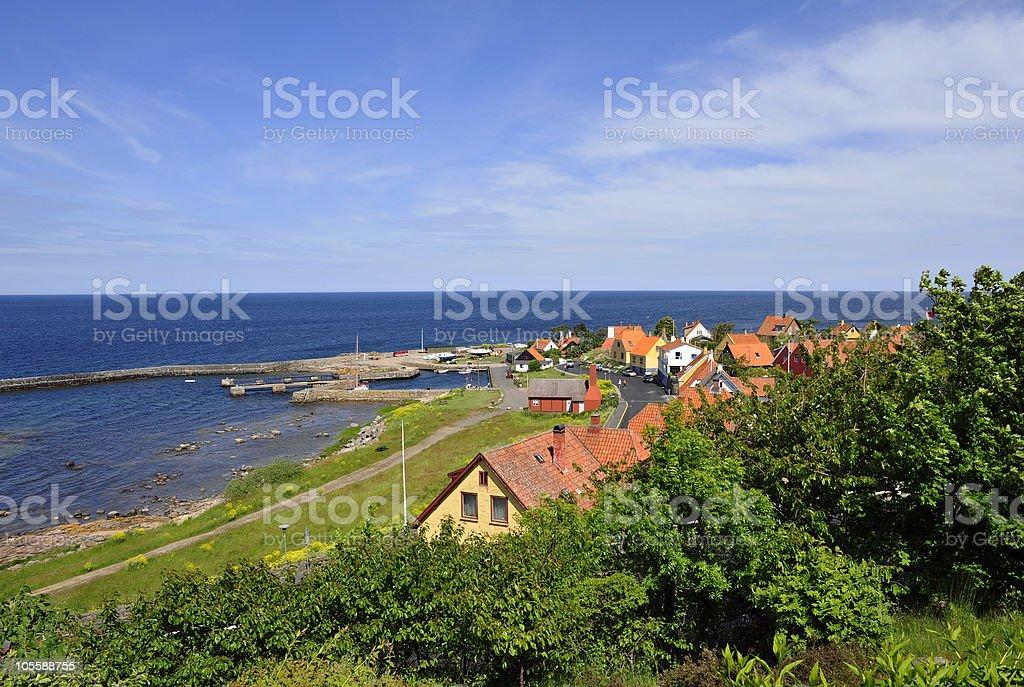 Bornholm village royalty-free stock photo