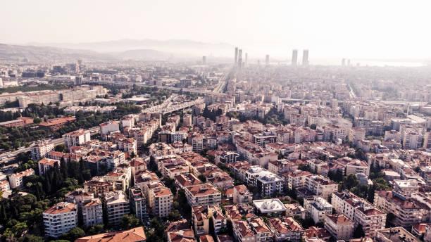 Bornova District Aerial View, Izmir, Turkey stock photo
