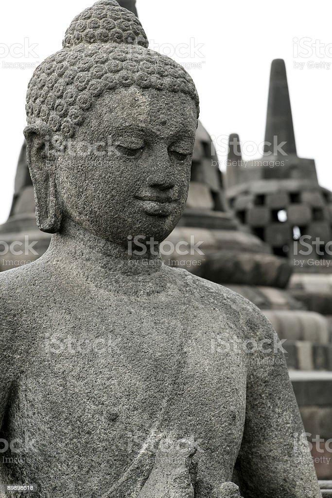 borobudur buddha royalty-free stock photo