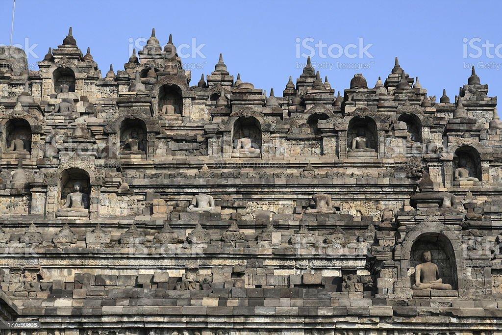 Borobudur Buddhism temple royalty-free stock photo