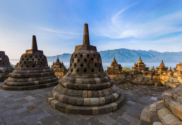 Borobudur Buddist Temple - island Java Indonesia stock photo