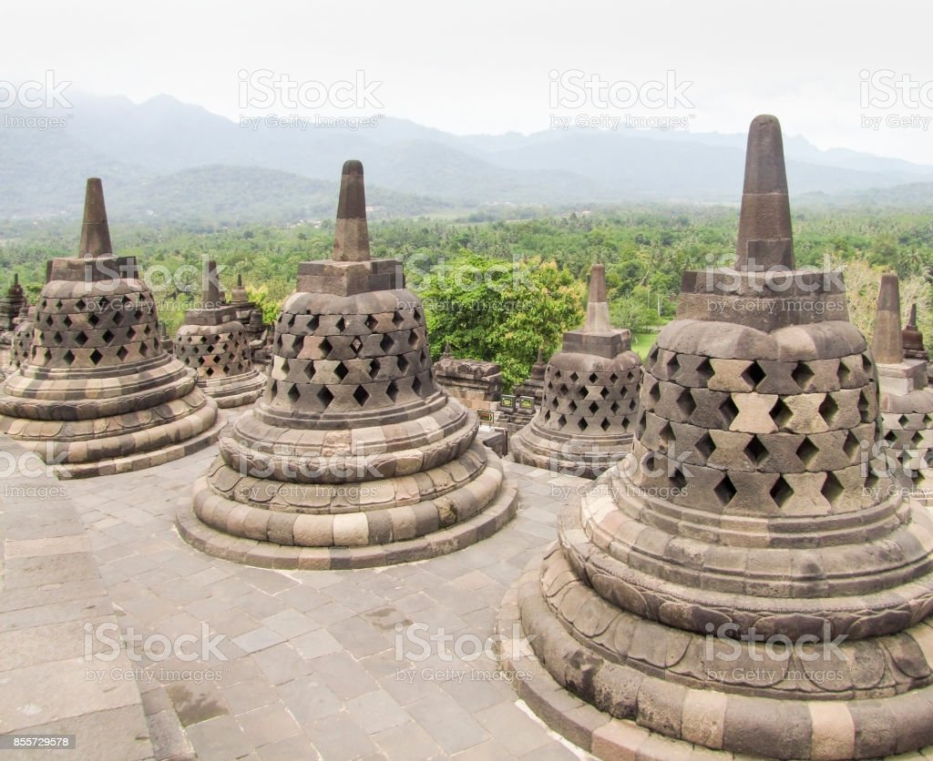 Borobudur in Java stock photo
