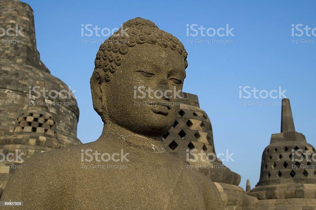 De Borobudur Java, Indonesia foto de stock libre de derechos