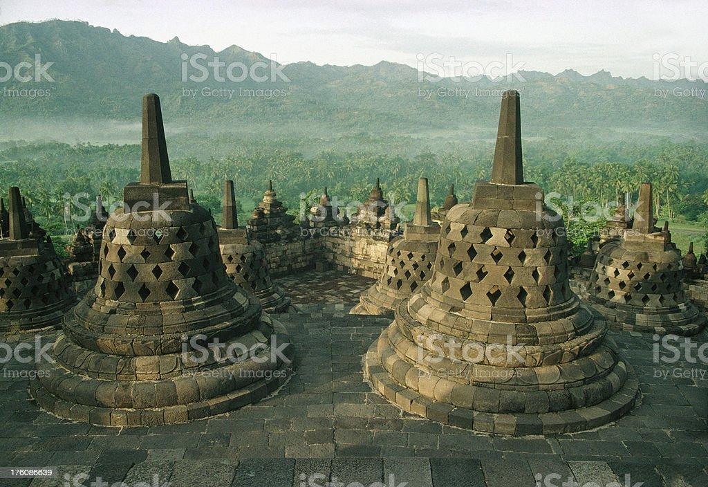 Borobudur Monument, Central Java, Indonesia royalty-free stock photo