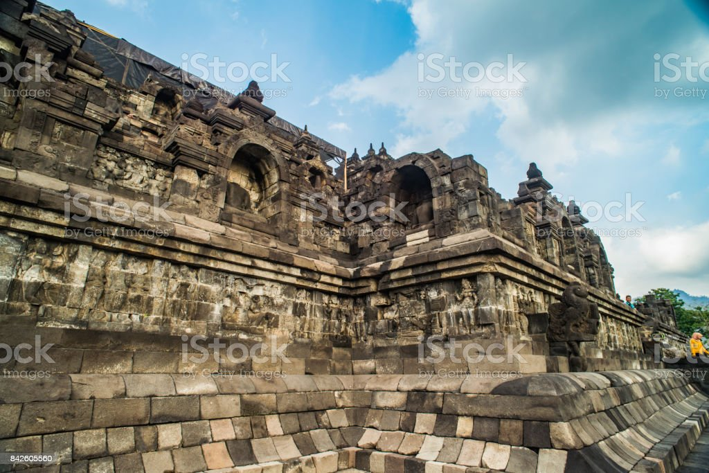 Borobudur Temple, ancient buddhist temple near Yogyakarta, Java, Indonesia stock photo