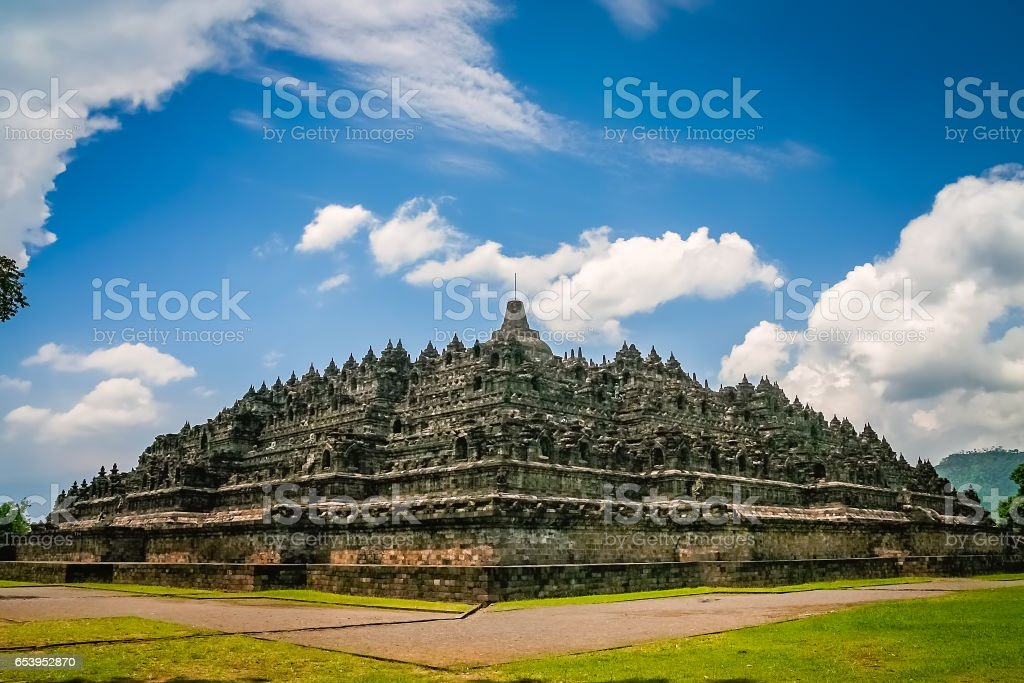 Borobudur temple in Java stock photo