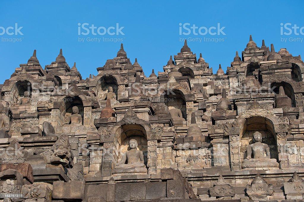 Borobudur temple, Java, Indonesia royalty-free stock photo