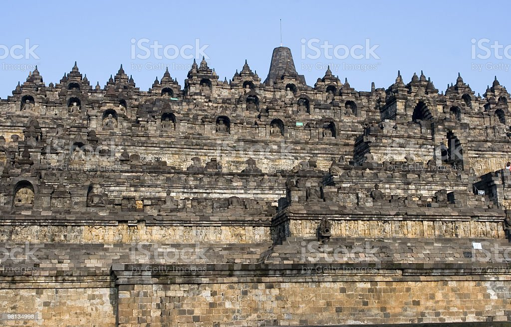 Borobudur temple overview royalty-free stock photo