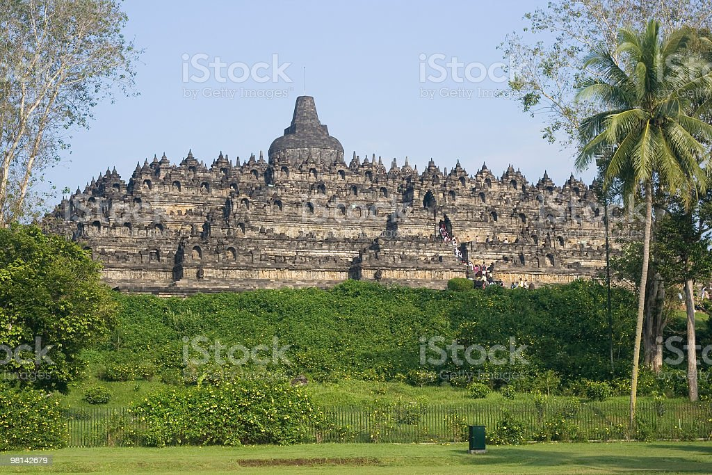 Borobudur temple, stunning view. royalty-free stock photo