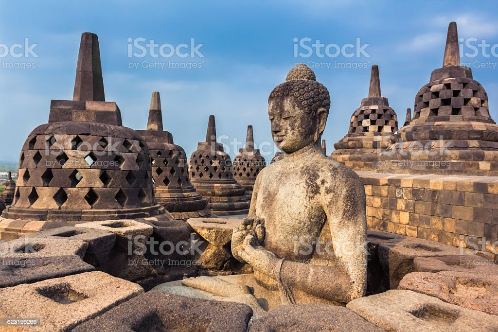 Borobudur Temple, Yogyakarta, Java, Indonesia. stock photo