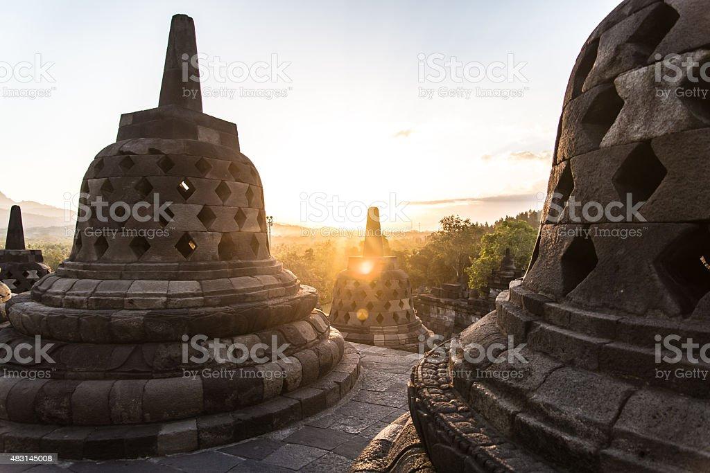 Borobudur , Yogyakarta, Java, Indonesia. stock photo