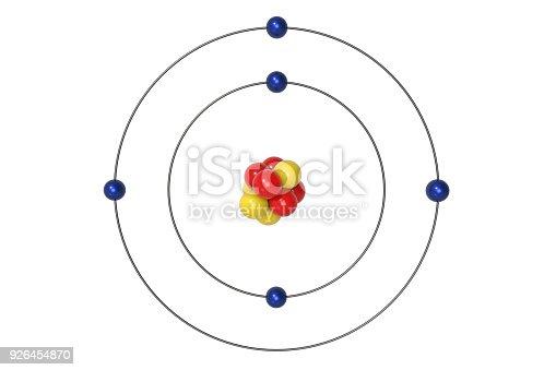 boron atom bohr model with proton neutron and electron stock photo  u0026 more pictures of atom