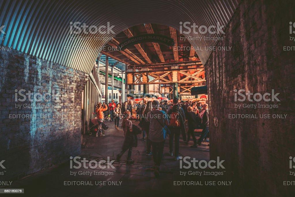 Borough Market, London - England, Lager, Markt, Straße – Foto