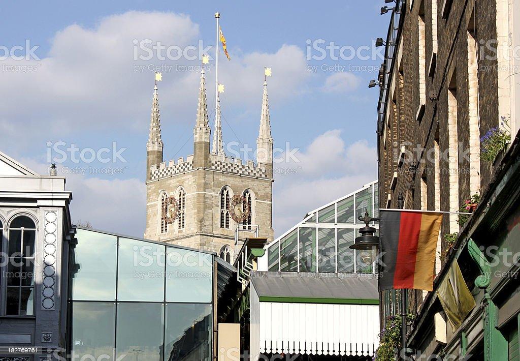 Borough Market near Southwark Cathedral stock photo