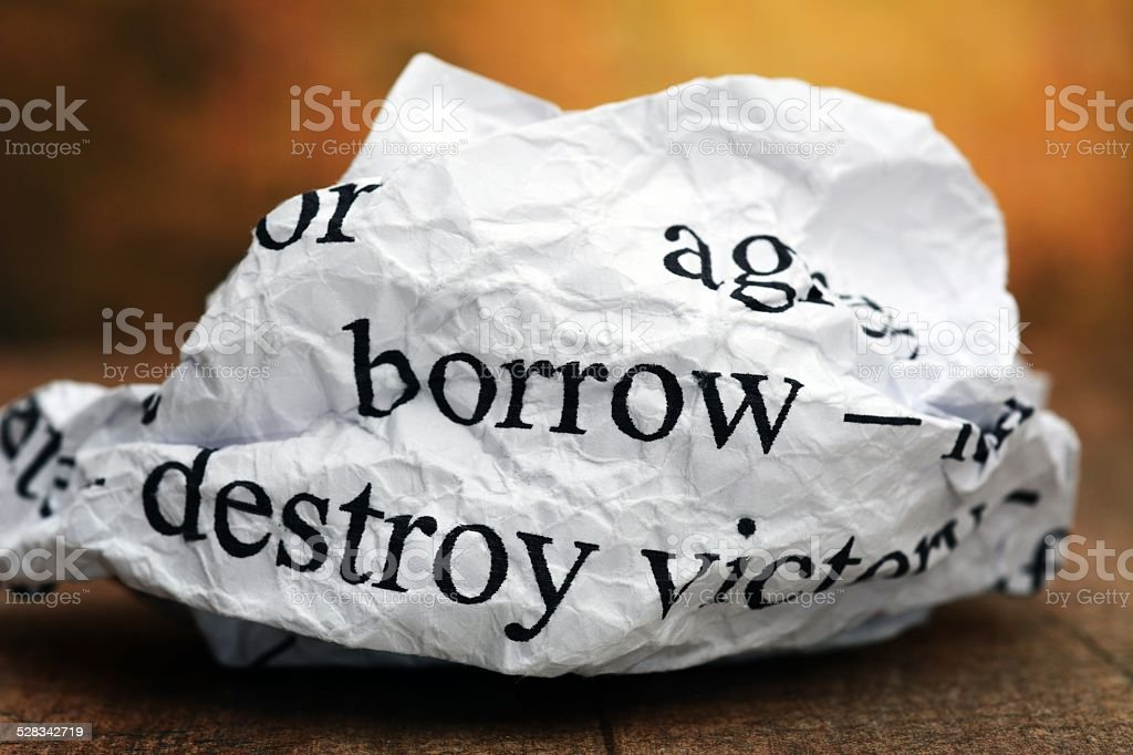 Borrow concept stock photo