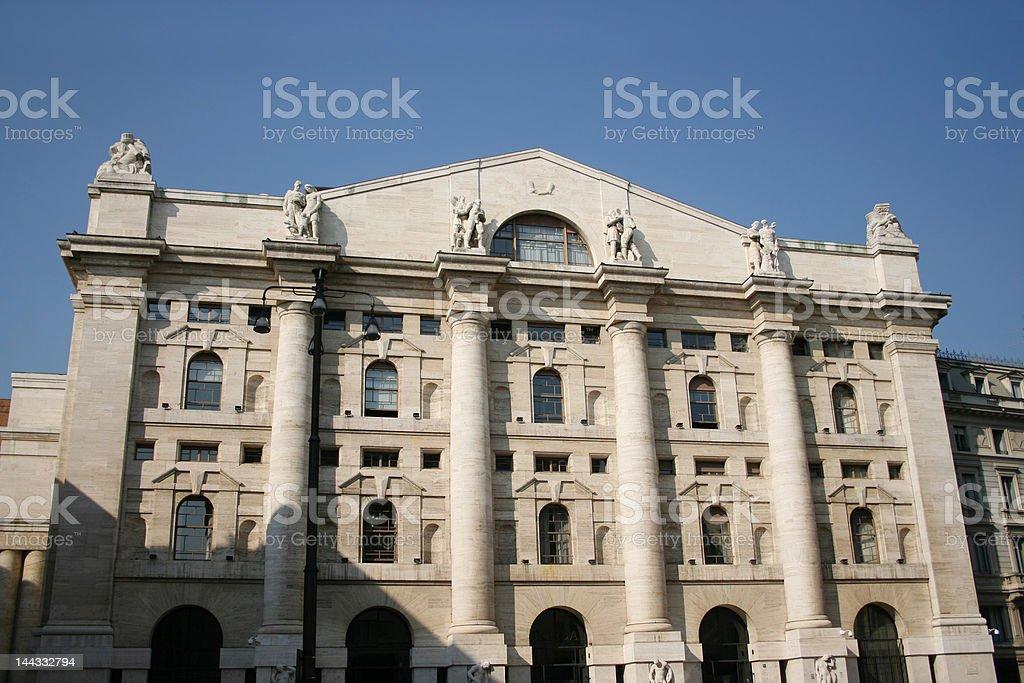 Borsa Stock exchange Milan royalty-free stock photo
