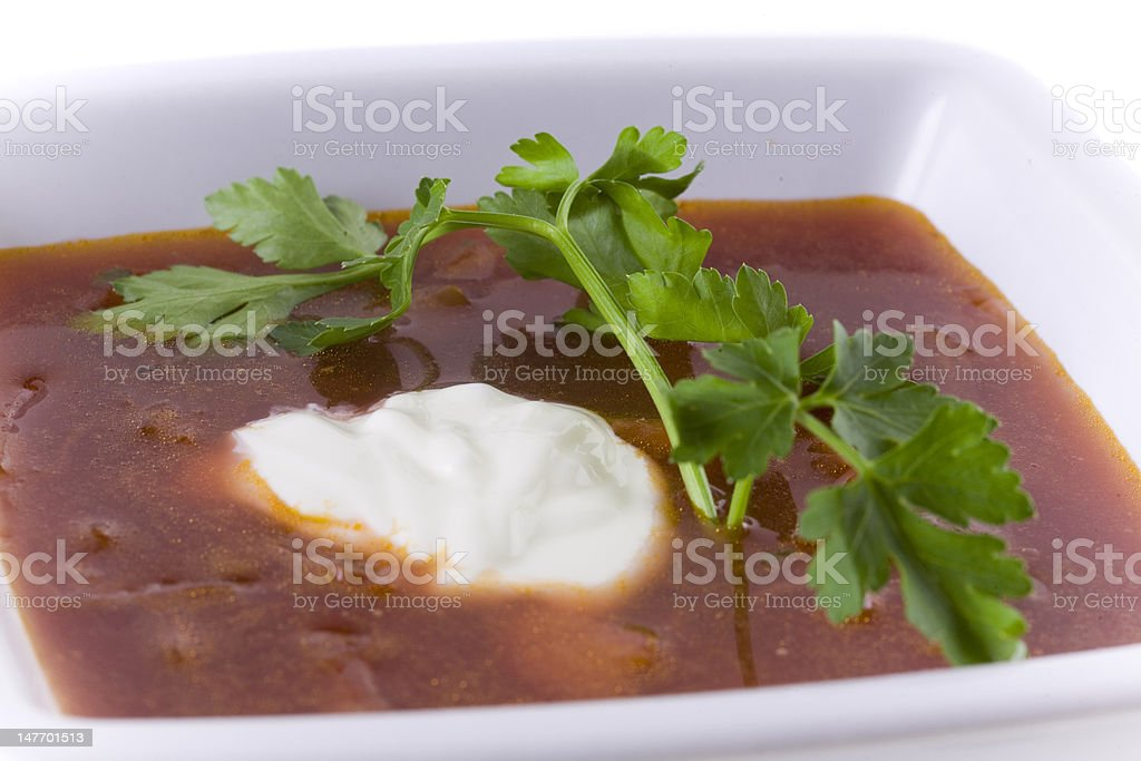 Borscht, Beet Soup royalty-free stock photo