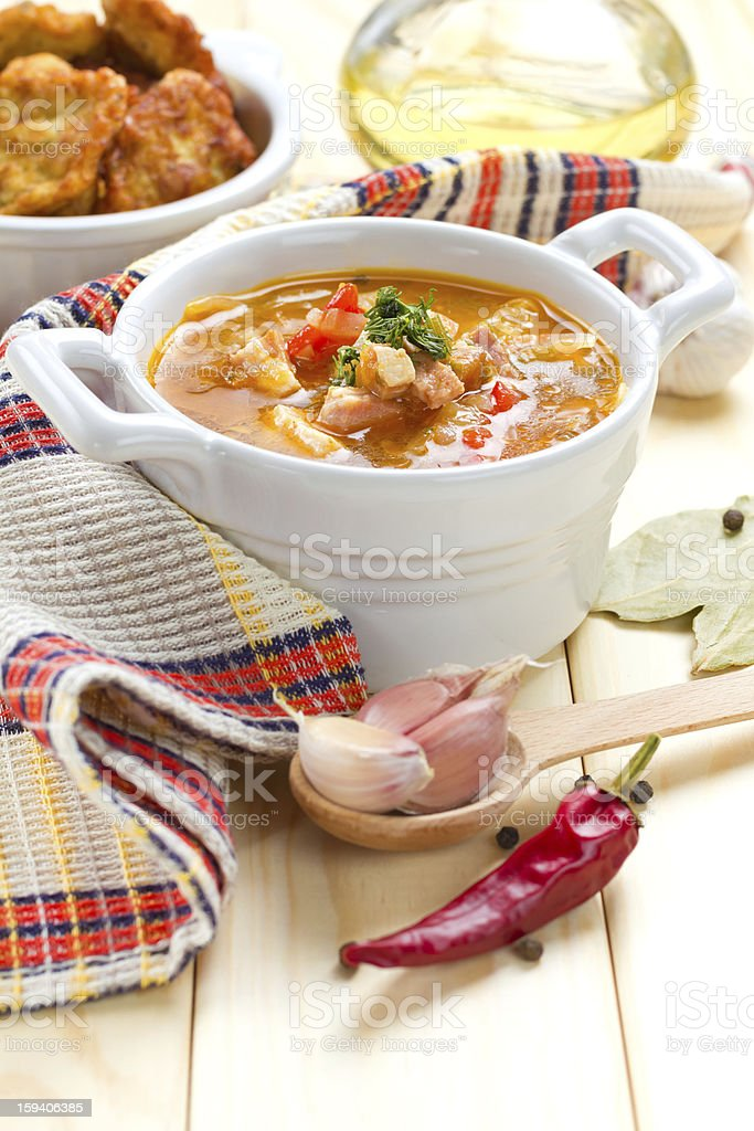 Borscht, beetroot soup royalty-free stock photo