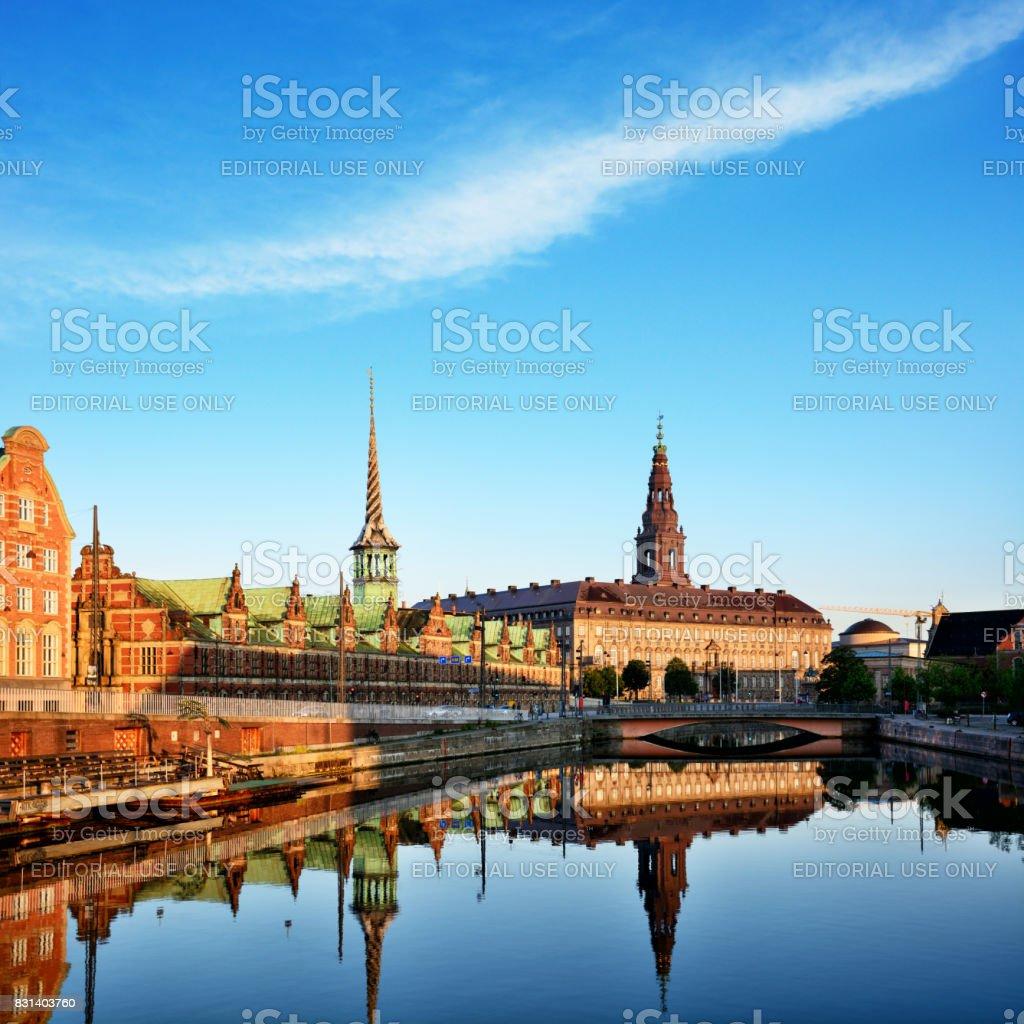 Borsen Building, Copenhagen stock photo