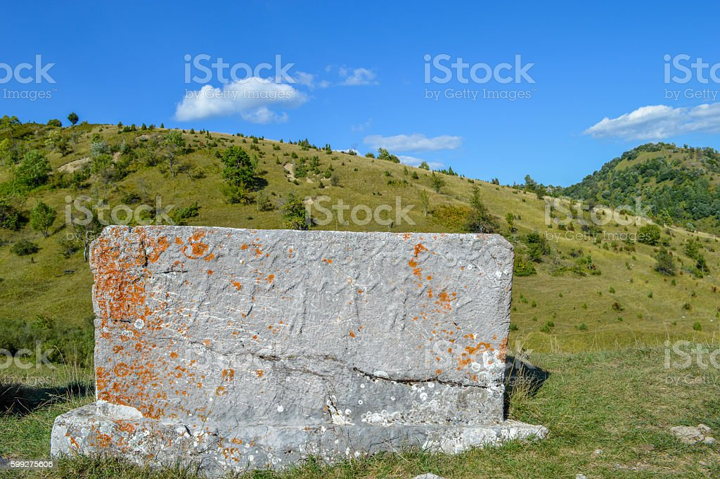 Bosanski Stecak - Bosnian Tombstone stock photo