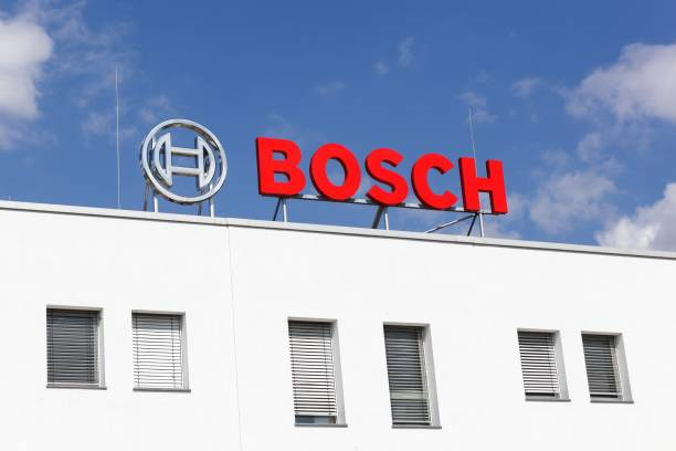 Bosch office building in Frechen, Germany Frechen, Germany - September 2, 2018: Bosch office building. Bosch is a German multinational engineering and electronics company headquartered in Germany bosch factory stock pictures, royalty-free photos & images