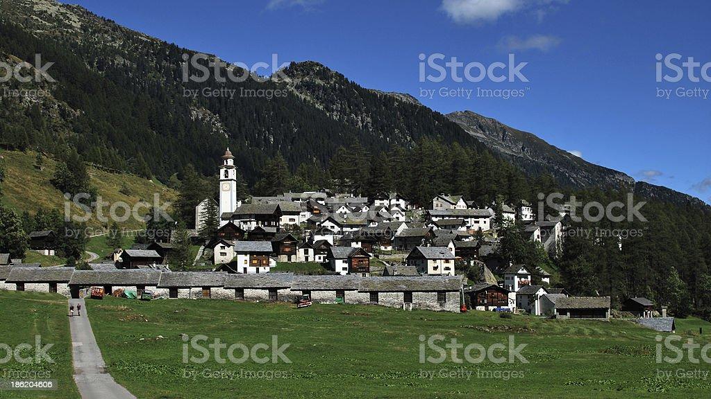 Bosco Gurin in the Valle Maggia (Ticino, Switzerland) stock photo