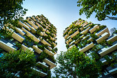 Milan, Italy, Bosco Verticale (Vertical Forest) is a pair of residential towers in the Porta Nuova district of Milan, Italy, between Via Gaetano de Castillia and Via Federico Confalonieri near Milano Porta Garibaldi railway station.