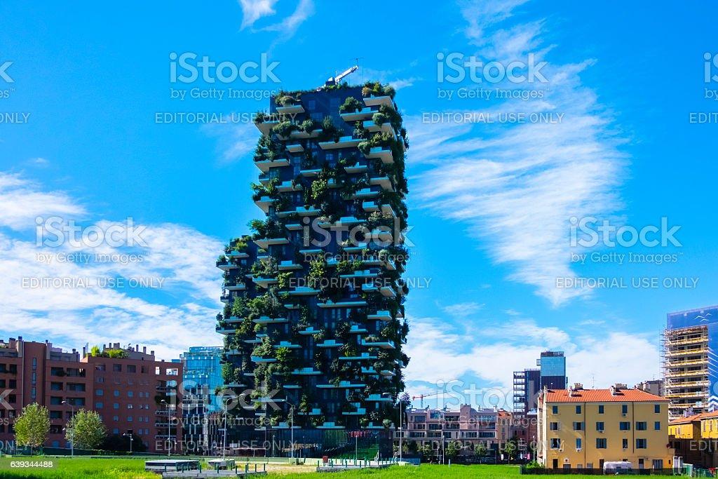 Bosco Verticale, Milan, Italy. stock photo