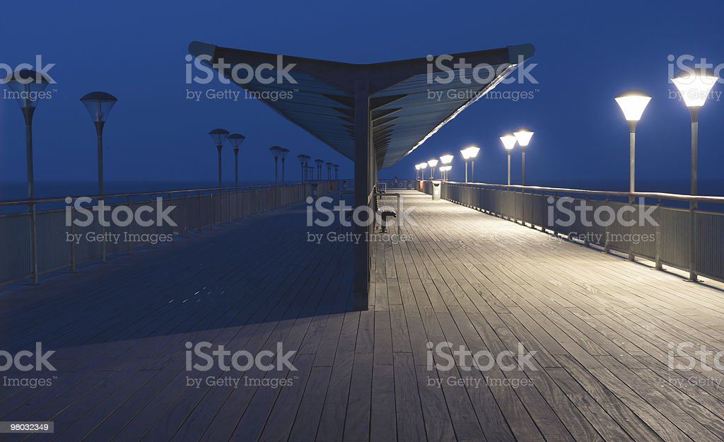 Boscombe Pier at Dawn royalty-free stock photo