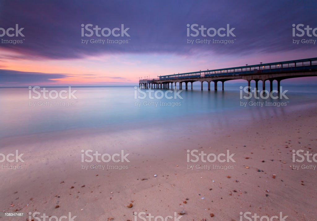Boscombe Pier, Bournemouth, Twilight. royalty-free stock photo