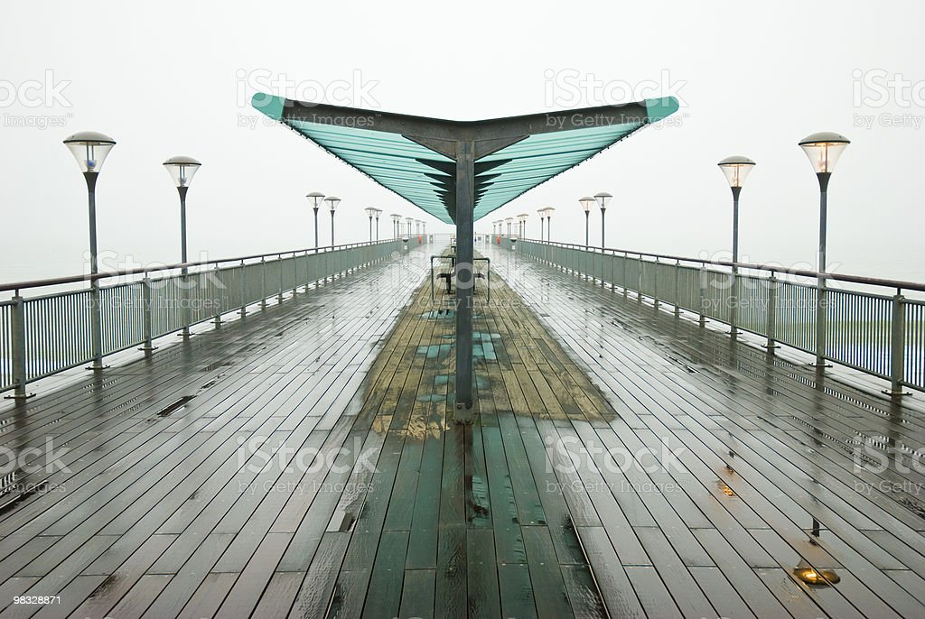 Boscombe Pier or boardwalk royalty-free stock photo