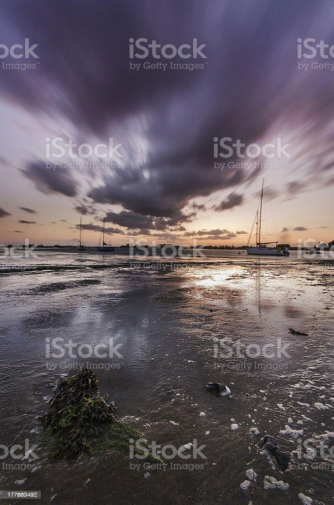 Bosham Harbour Sunset royalty-free stock photo
