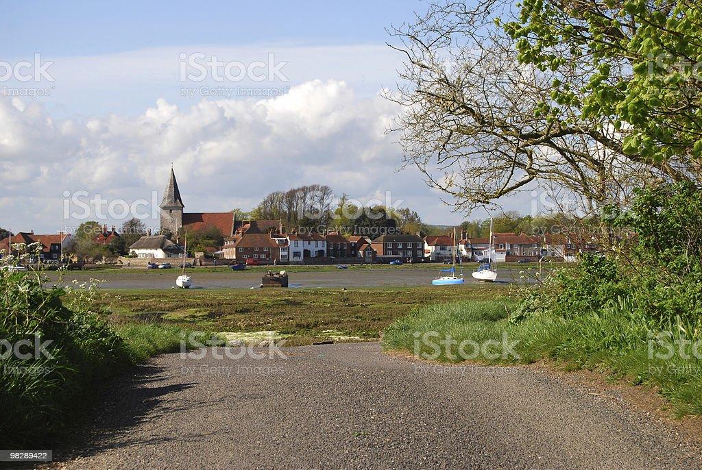 Bosham Quay. Chichester. West Sussex. England royalty-free stock photo