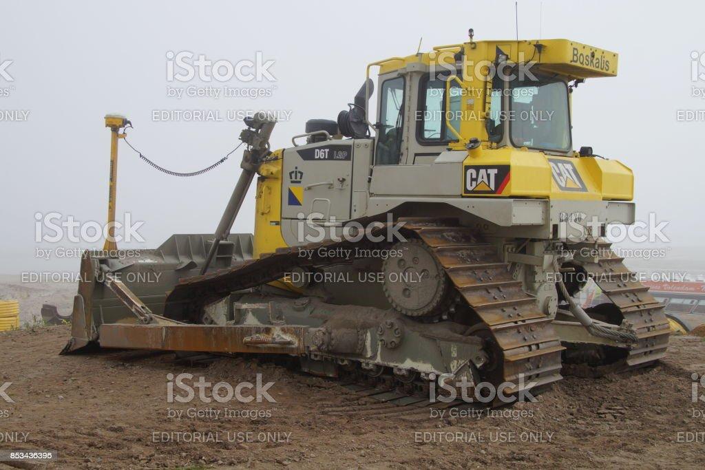 Boskalis Caterpillar (kat) D6T LGP bulldozer - Royalty-free Blauw Stockfoto